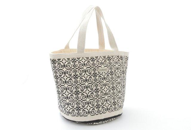 Ecoaccents Lg. Iron-Scroll Bag, Black