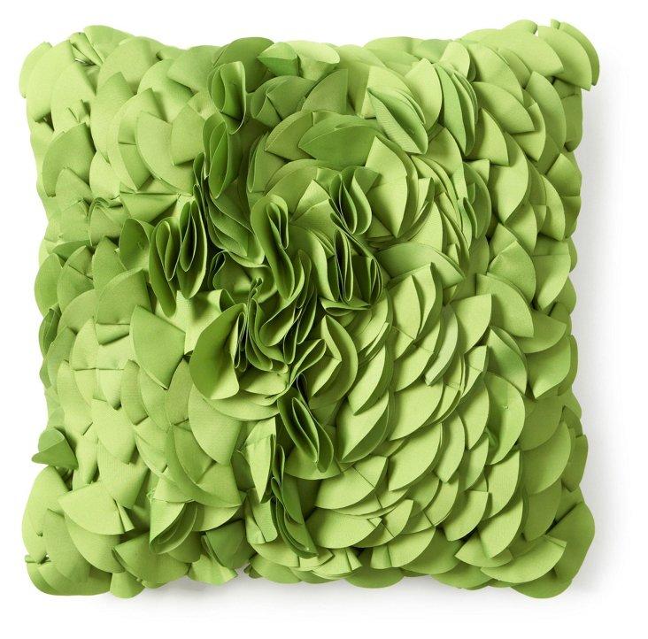 Peony 18x18 Outdoor Pillow, Green