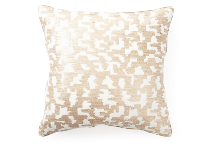 Square Sequins 19x19 Pillow, Gold