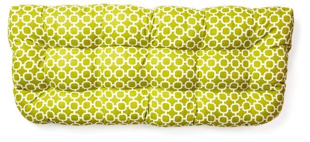 Holly 19x44 Outdoor Bench Cushion, Green