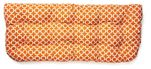 Holly 19x44 Bench Cushion, Orange