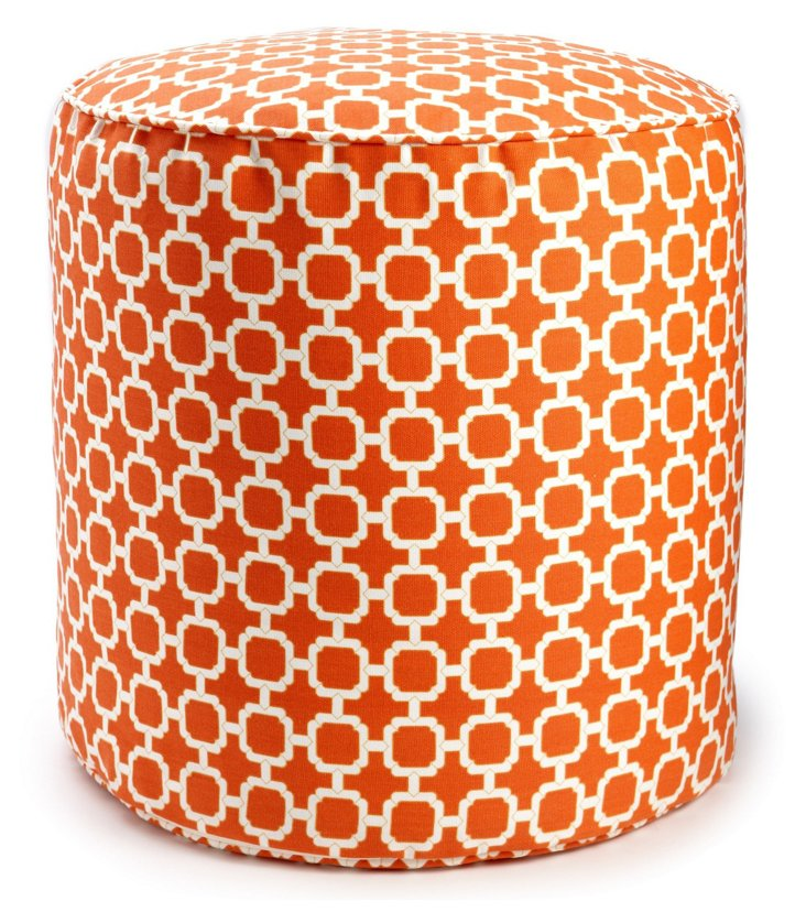 Hockley Outdoor Pouf, Mandarin