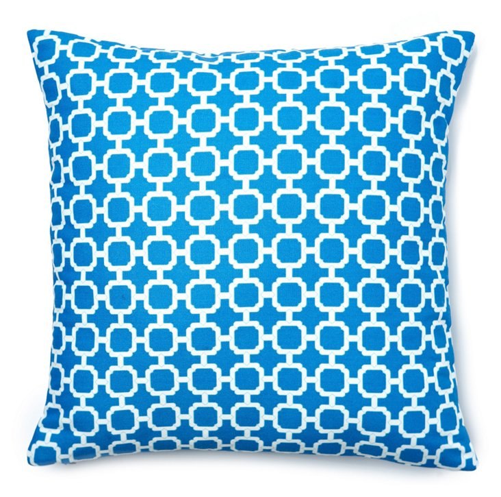 Holly 20x20 Outdoor Pillow, Blue
