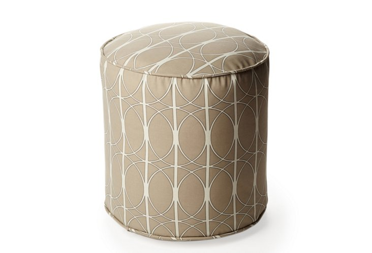 Maxfield Outdoor Pouf, Sand