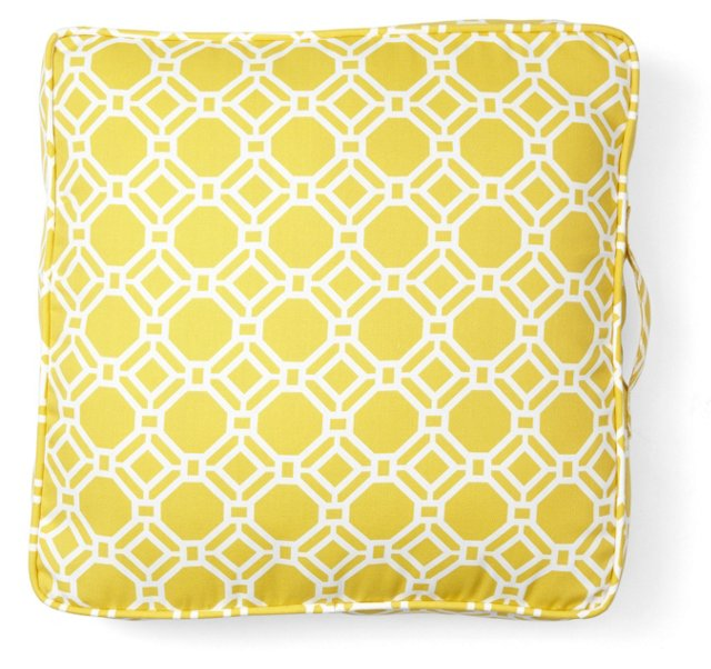 Rossmere Outdoor Floor Pillow, Sunshine
