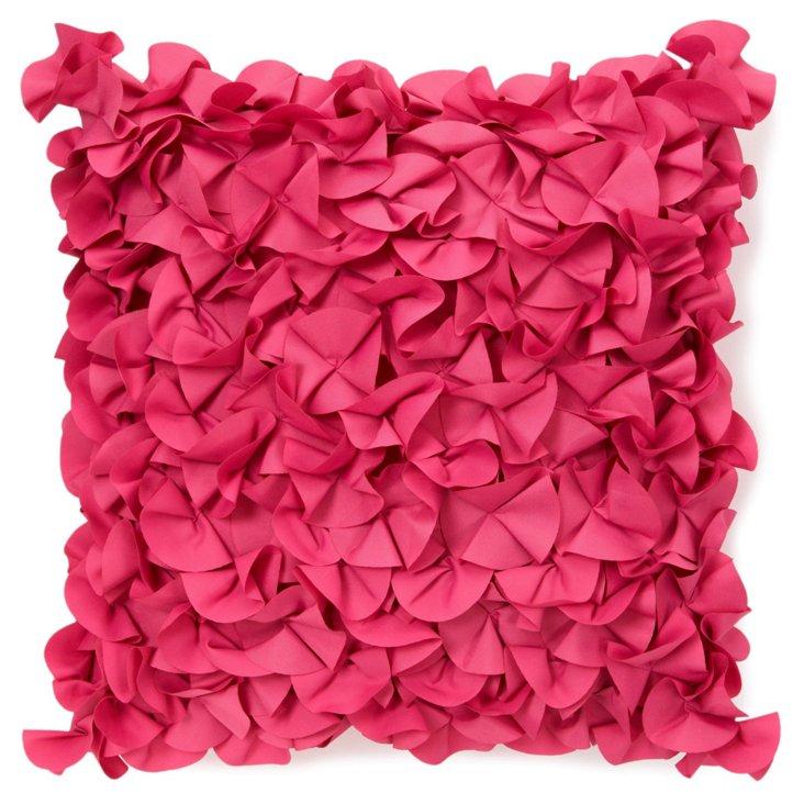 Petals 18x18 Pillow, Fuchsia