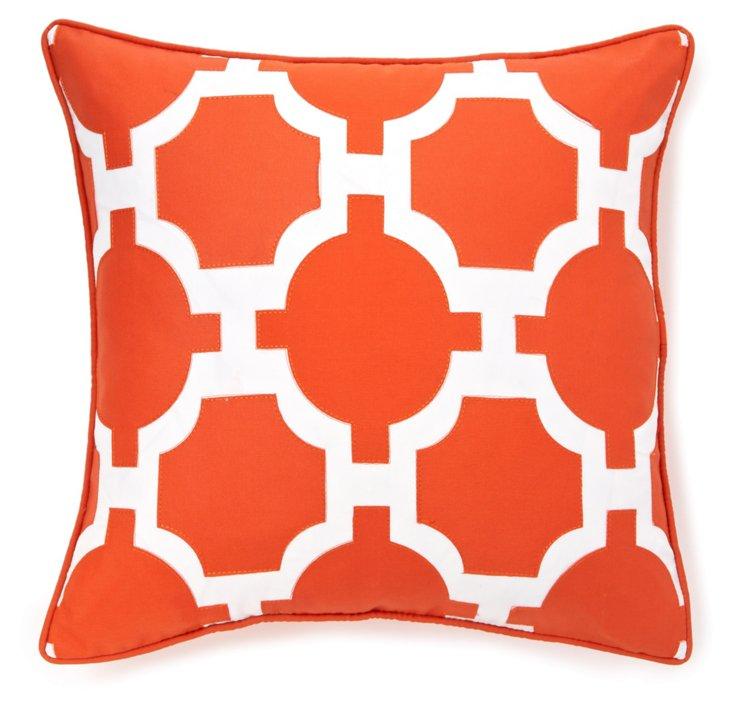 Garden 18x18 Outdoor Pillow, Pumpkin