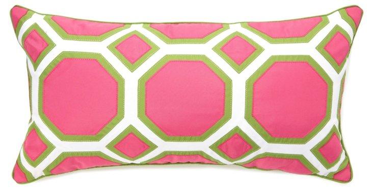 Comb 13x25 Outdoor Pillow, Fuchsia