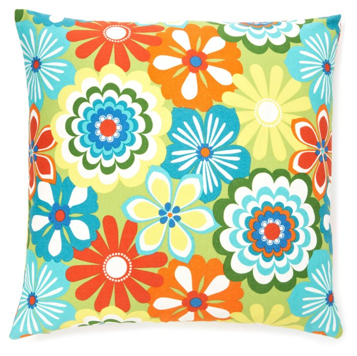 Floral 20x20 Outdoor Pillow, Multi