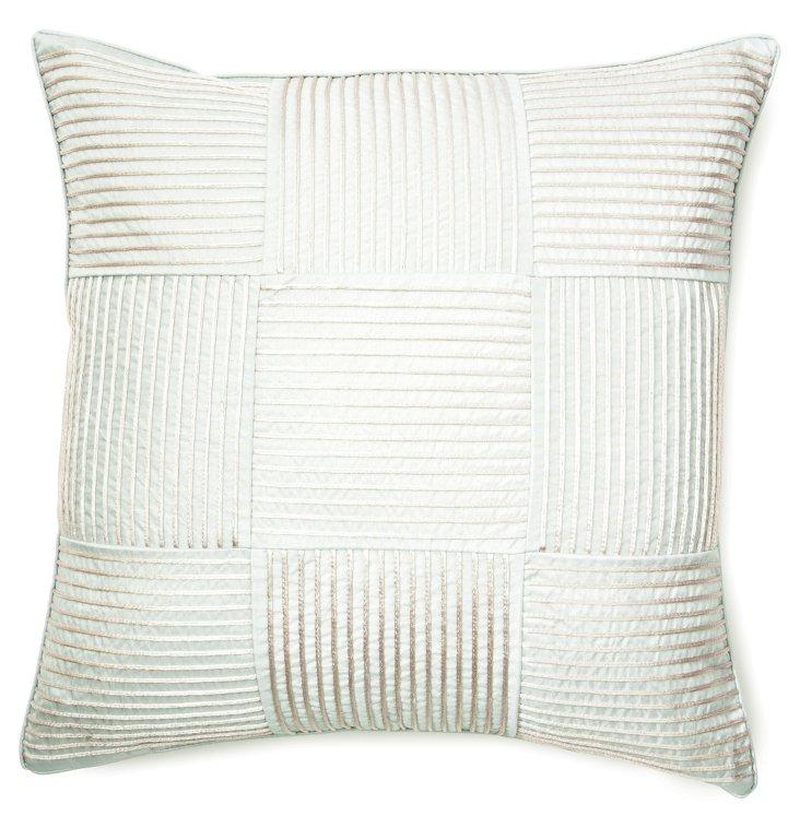 Squares 20x20 Pillow, Pale Gray