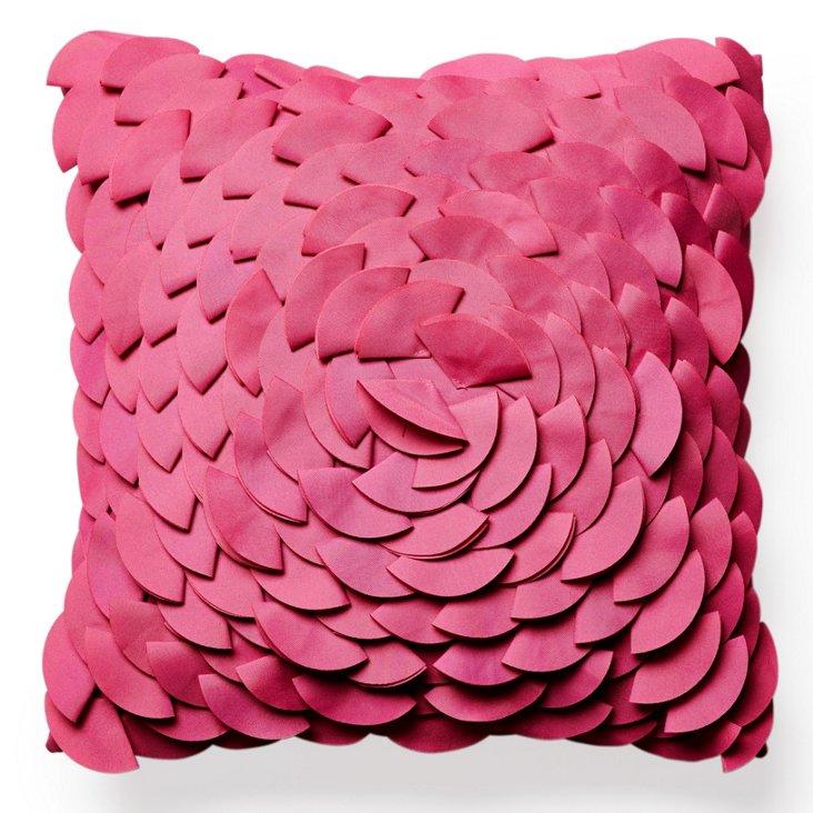 Peony 16x16 Outdoor Pillow, Fuchsia