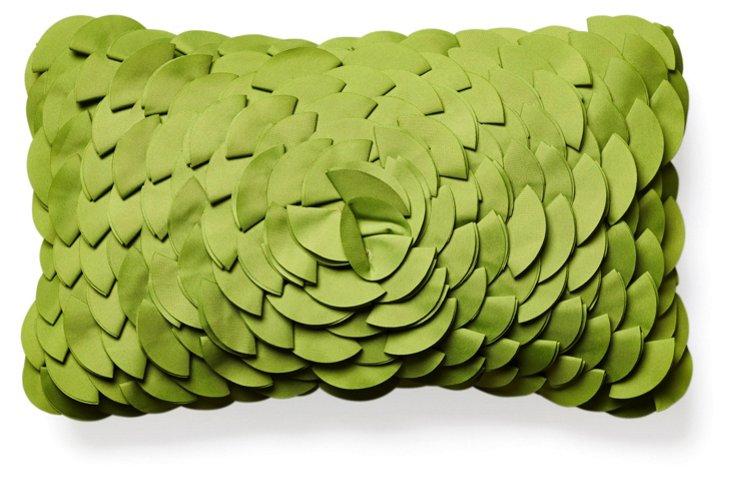 Peony 12x20 Outdoor Pillow, Green