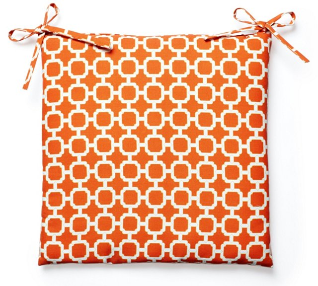 S/2 Hockley Outdoor Chair Pads, Orange