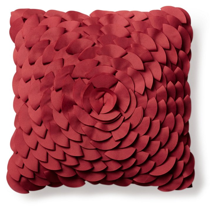 Peony 16x16 Pillow, Red