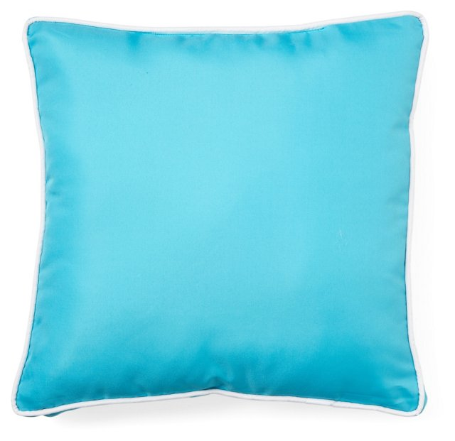 Classic 17x17 Outdoor Chair Pad, Blue