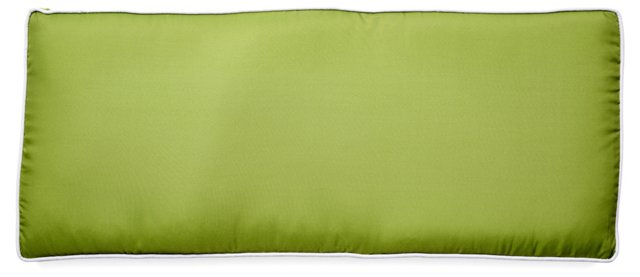 Piped 18x43 Outdoor Bench Cushion, Green