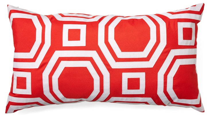 Link 12x20 Outdoor Pillow, Red
