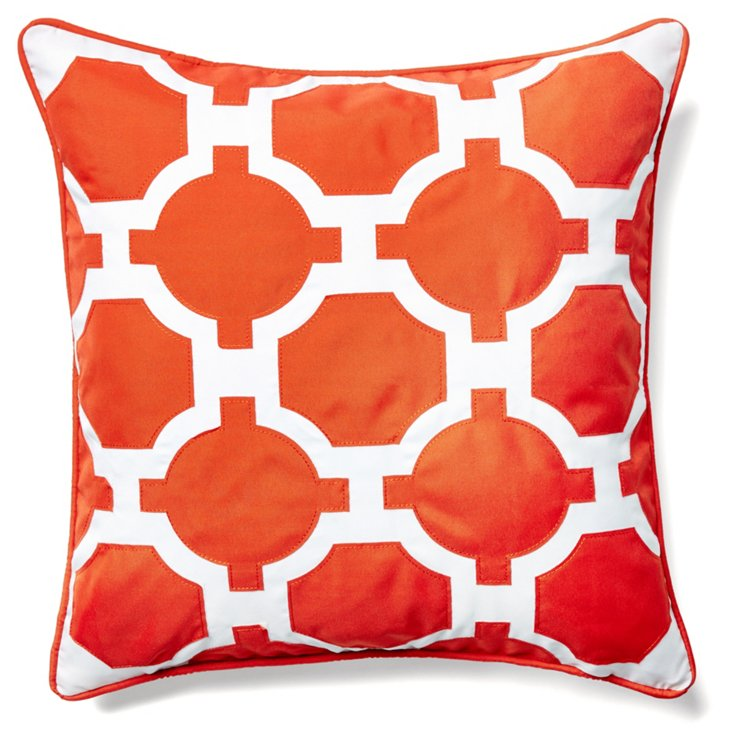 Link 18x18 Outdoor Pillow, Orange