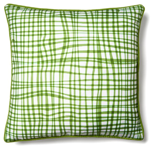 Textured 18x18 Outdoor Pillow, Green
