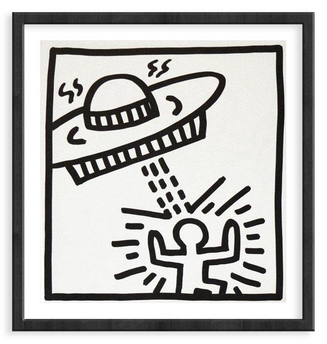 Keith Haring, Saucer Attack Man, 1982
