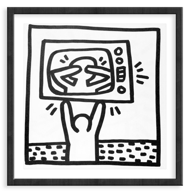 Keith Haring, TV Over Man, 1982