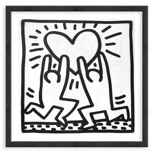 Keith Haring, Two Men Heart, 1982