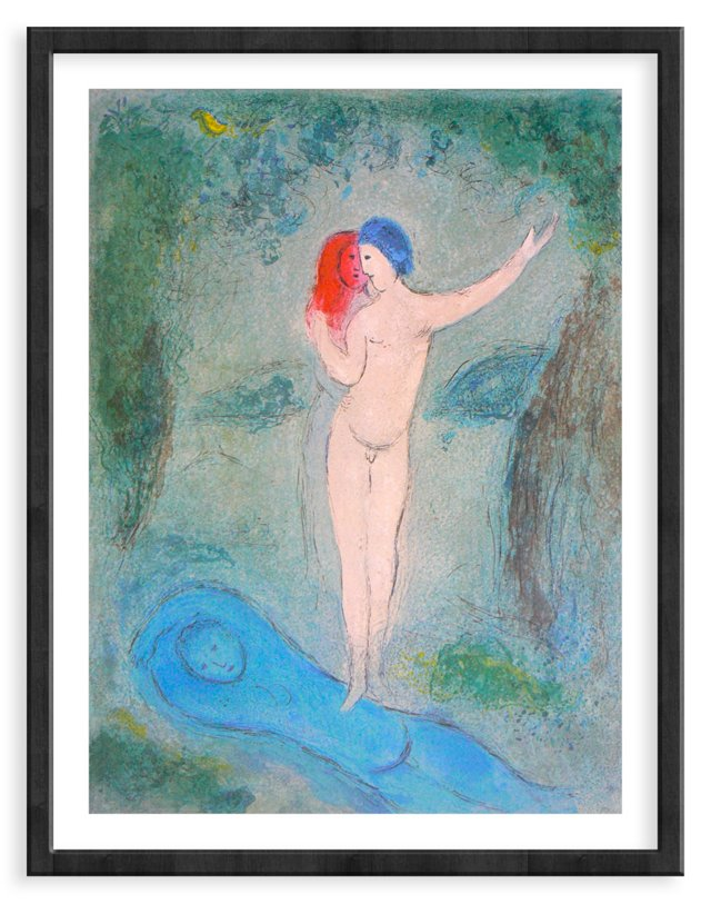 Chagall, Mourlot 316, Chloe's Kiss