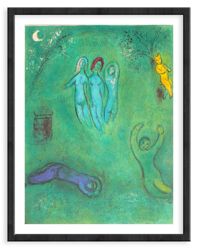 Chagall, Daphnis' Dream & The Nymphs