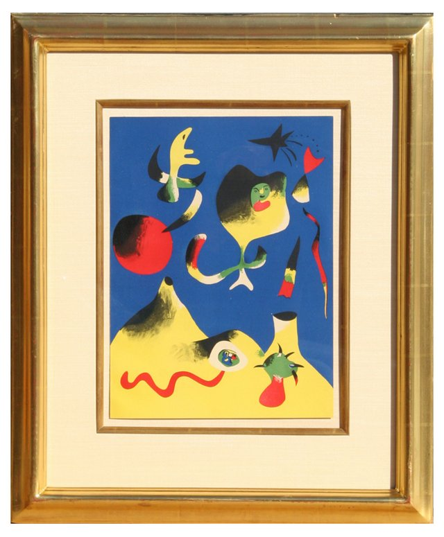 "Joan Miró, ""Air"" Lithograph 1937"