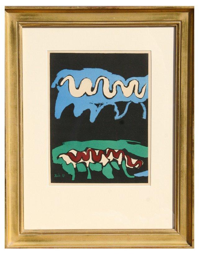 """Bores, """"Earth"""" Lithograph 1937"""