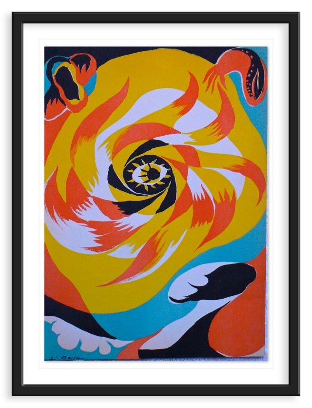 """André Masson, """"Sun"""" Lithograph 1938"""