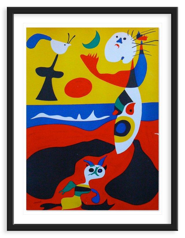 """Joan Miró, """"Summer"""" Lithograph 1938"""