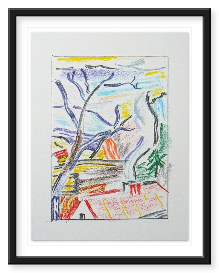 """Lichtenstein, """"Untitled""""  Lithograph"""