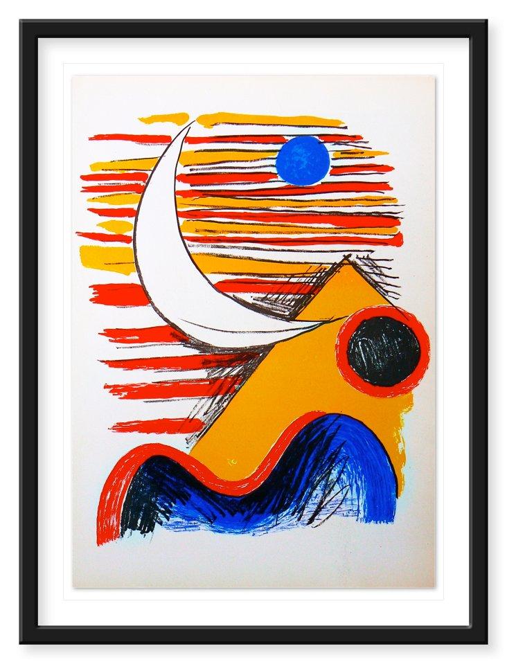 """Alexander Calder """"Spiral Moon"""", 1959"""