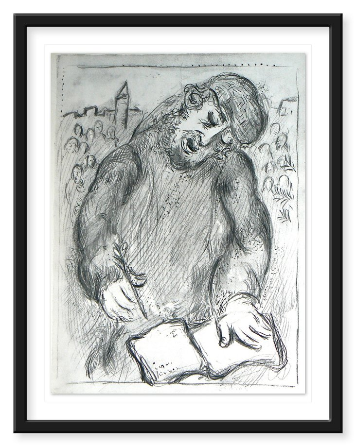"Marc Chagall, ""Untitled"" 1937, Litho"