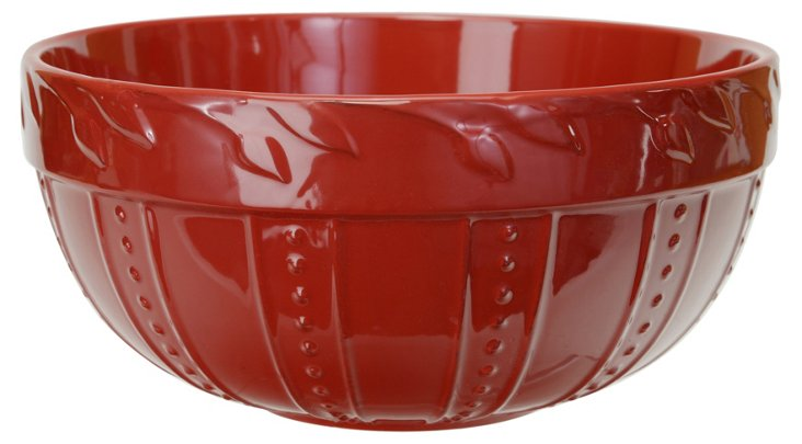 Large Sorrento Mixing Bowl, Ruby