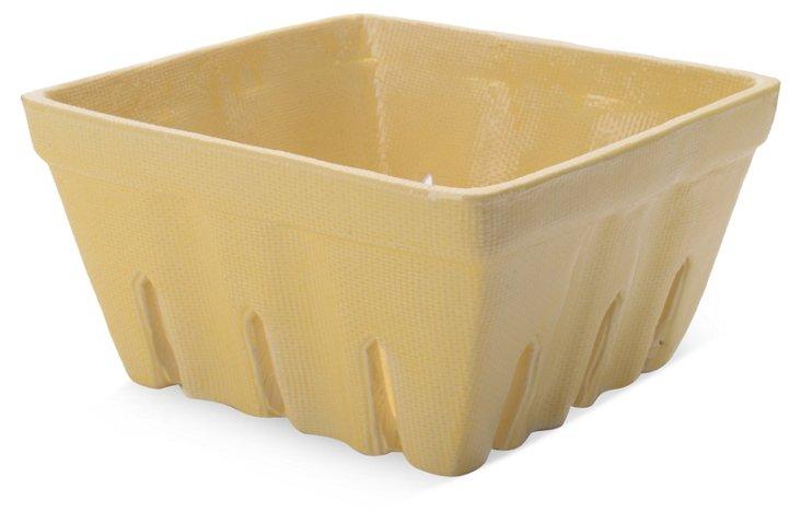 S/2 Ceramic Berry Baskets, Yellow