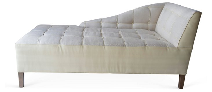 Custom Tufted Chaise Lounge