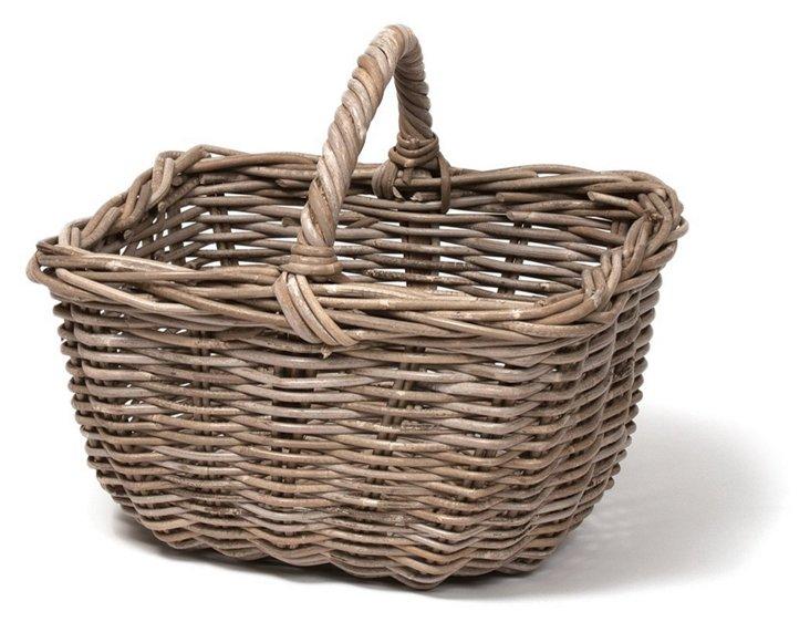 Rattan Market Basket
