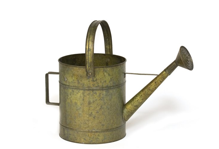 "19"" Watering Can Planter, Verdigris"