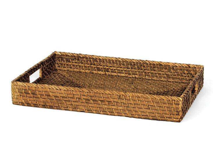 Hapao Weave Rattan Tray