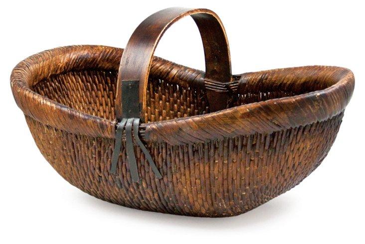 Sewn Willow Basket