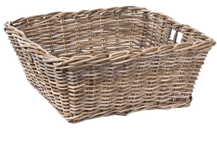 Square Rattan Catchall, Large
