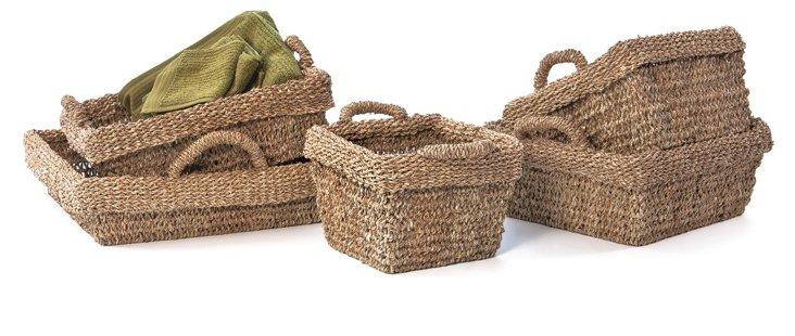 Asst of 5 Sea-Grass Baskets