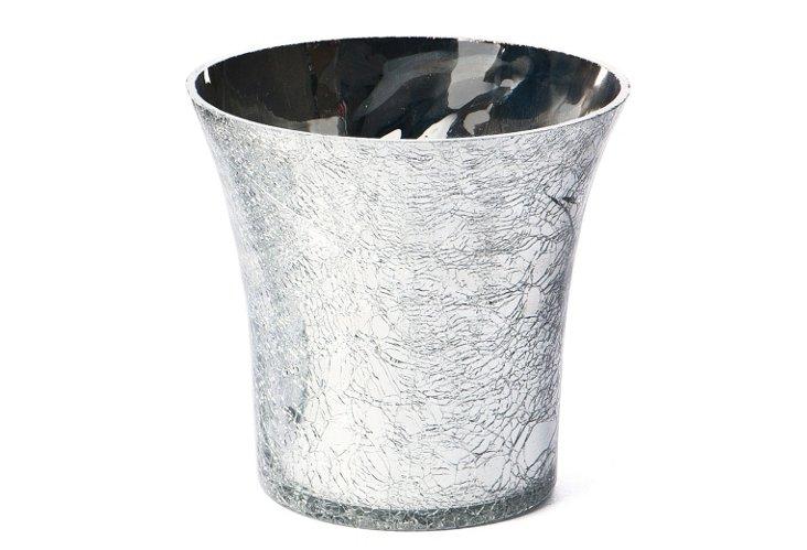 Fluted Crackled Vase