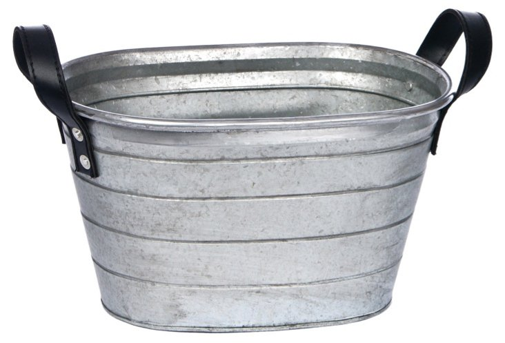 Party Bucket w/ Leather Handles