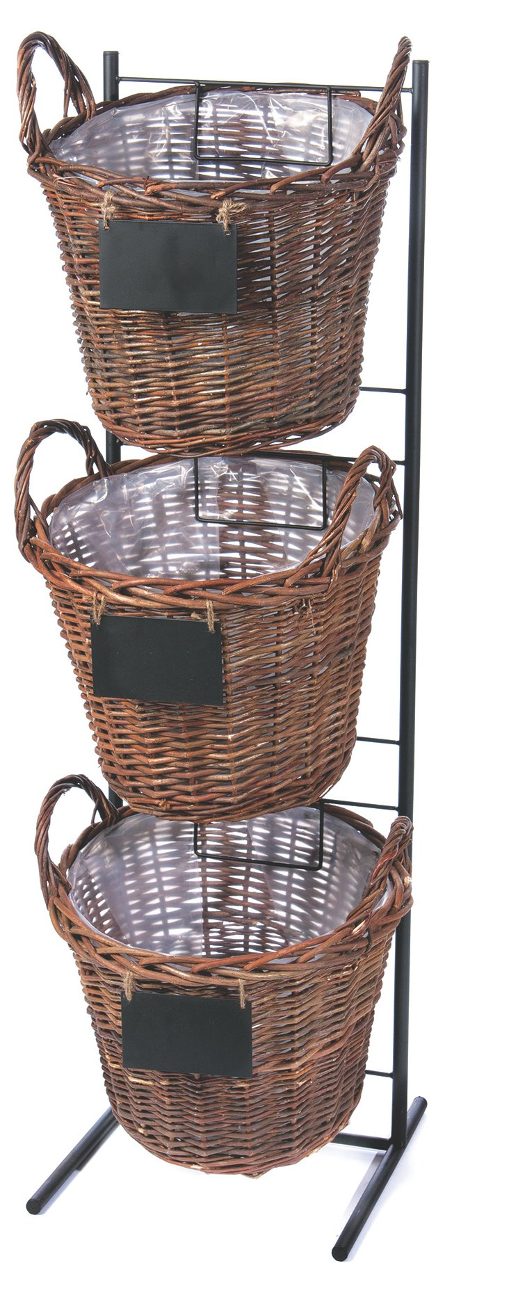 Stacked Baskets w/ Stand, Brown