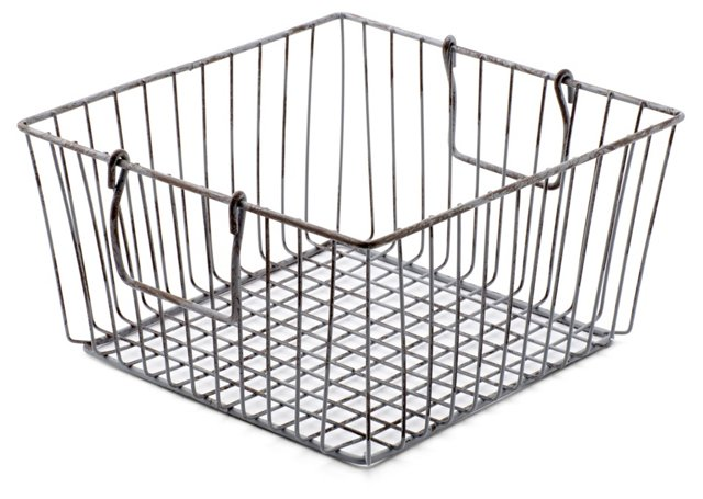 Square Wire Storage Bin