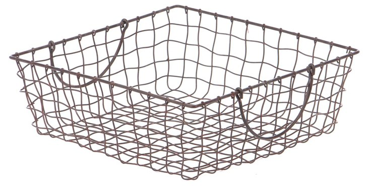 Shallow Square Wire Basket