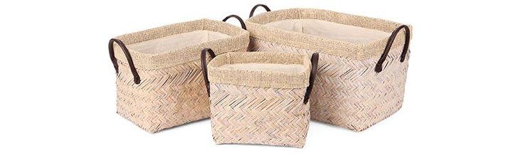 S/3 Reed Storage Baskets